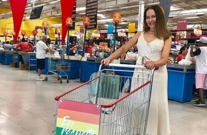 Carrinhos de supermercado no Piauí reforçam apoio à diversidade