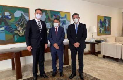 Dias se reúne com Rodrigo Pacheco para tratar de ampliação da vacinação contra a covid-19