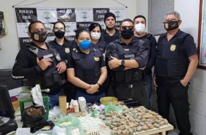 Polícia apreende grande quantidade de drogas e prende duas pessoas, em Barras