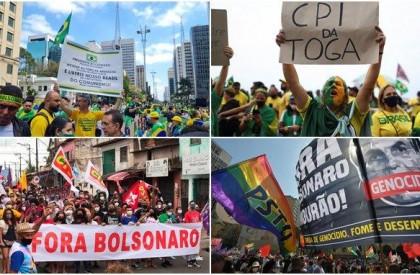 7 de Setembro tem protestos a favor e contra...