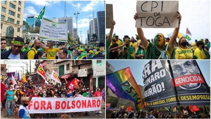 7 de Setembro tem protestos a favor e contra o governo Bolsonaro